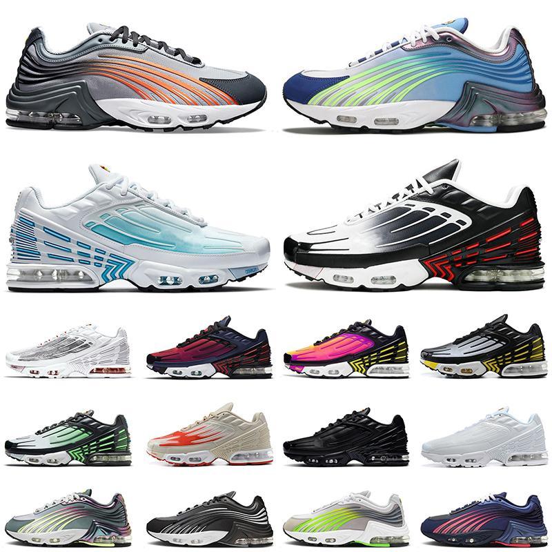 حذاء رياضي Nike Air Max Plus 2 3 للرجال والنساء بالإضافة إلى TN 2 3 II III Tuned أزرق ملكي عميق أسود عاكس Rnner حذاء رياضي مقاس 36-45