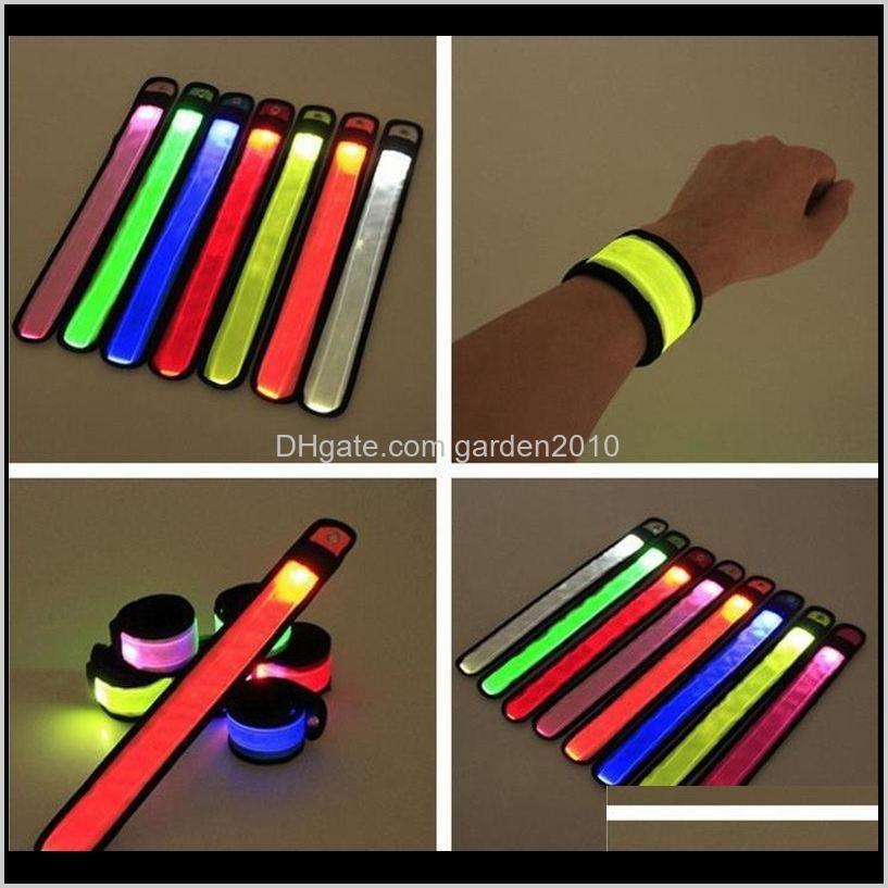 Decoration Led Sports Slap Wrist Bands Wristband Light Flash Bracelet Glowing Flare Strap For Party Concert Armband Cgnab Go490