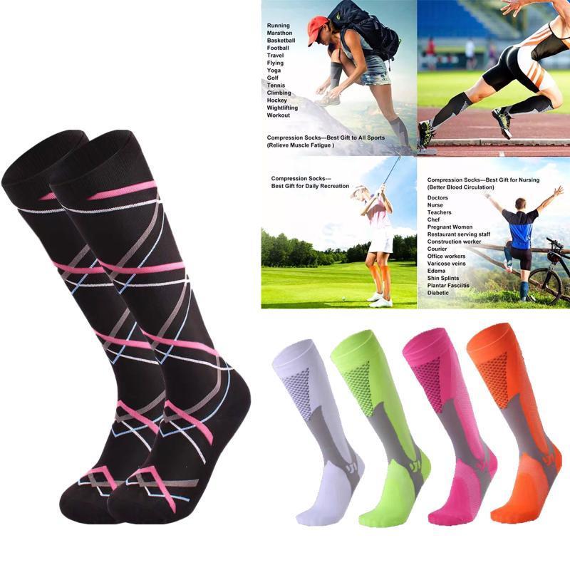 Спортивные носки для спорта на открытом воздухе для медсестер Shin Splints Flight Travel Antifatigue Unisex Varicose Weins Mens