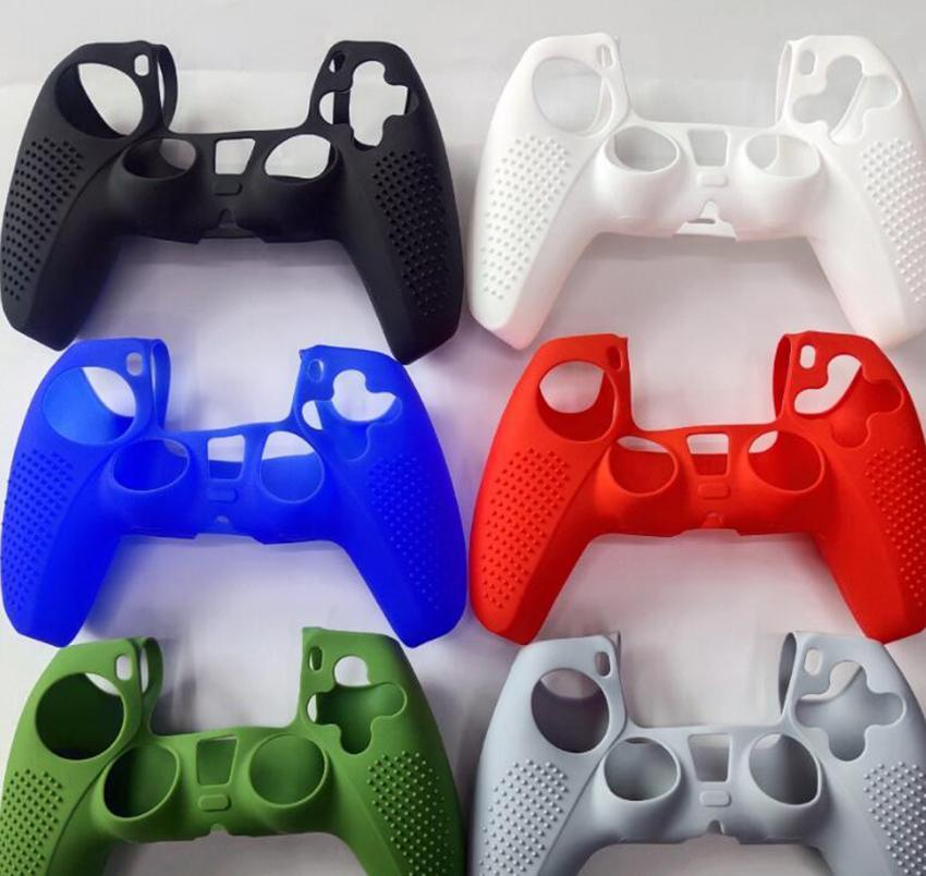 Single Color PS5 Controller Skin Cases Game Protective Shell Silicones Case Silicone Sleeve for Playstation 5 P S Accessories