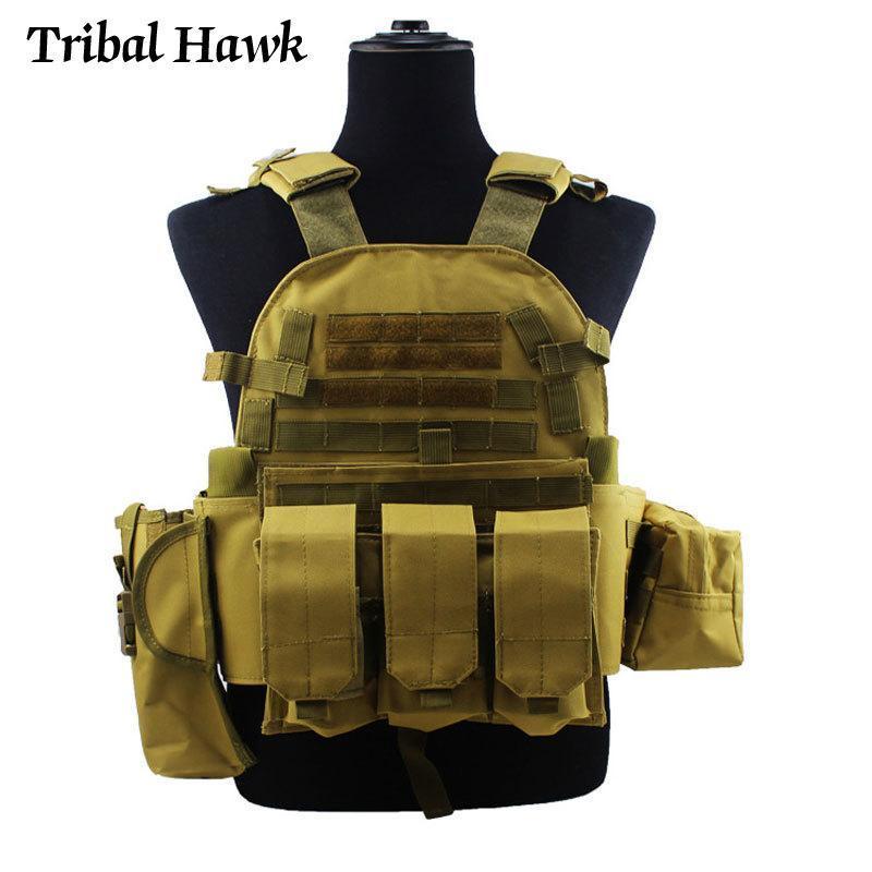 Jaquetas de caça Militar Tactical Vest Exército Molle Assalto Equipamento de Assalto Paintball Combate CS Game Roupas Camuflagem