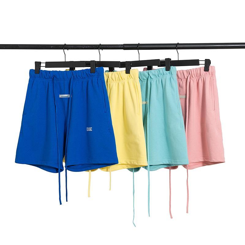 2021 망 디자이너 높은 거리 반바지 바지 ESS 남성 여성 여름 스포츠 스웨트 힙합 짧은 착용 의류