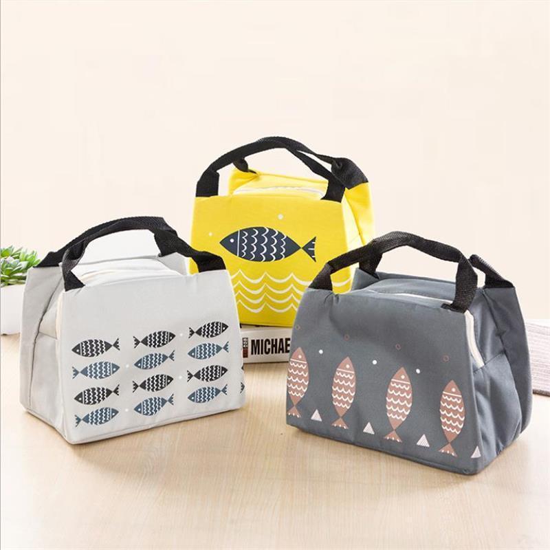 Sacs de rangement Vieruodis Sac alimentaire portable Sac de pique-nique en plein air Forfait paquet isolant Déjeuner à la maison Fournitures de vie