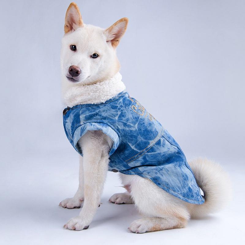 겨울 따뜻한 개 옷 방수 애완 동물 코트 자켓 개를 위해 4 다리 의류