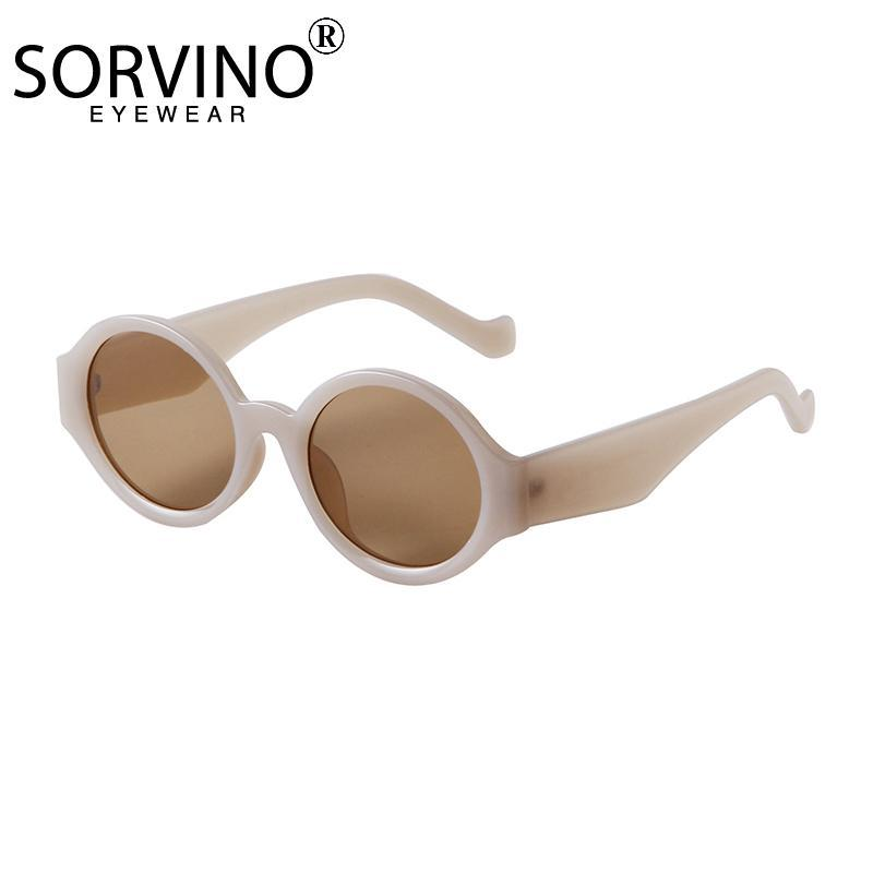 Óculos de sol 2021fashion Rodada de luxo espelho vintage UV400 designer de marca mulheres / homens clássico quadro grande sunglass gafas
