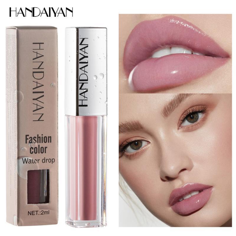 Lip de brilho Lips maquiagem batom hidratante compõem longa duração impermeável tonalidade vermelha sexy lipgloss gordo cuidado nude
