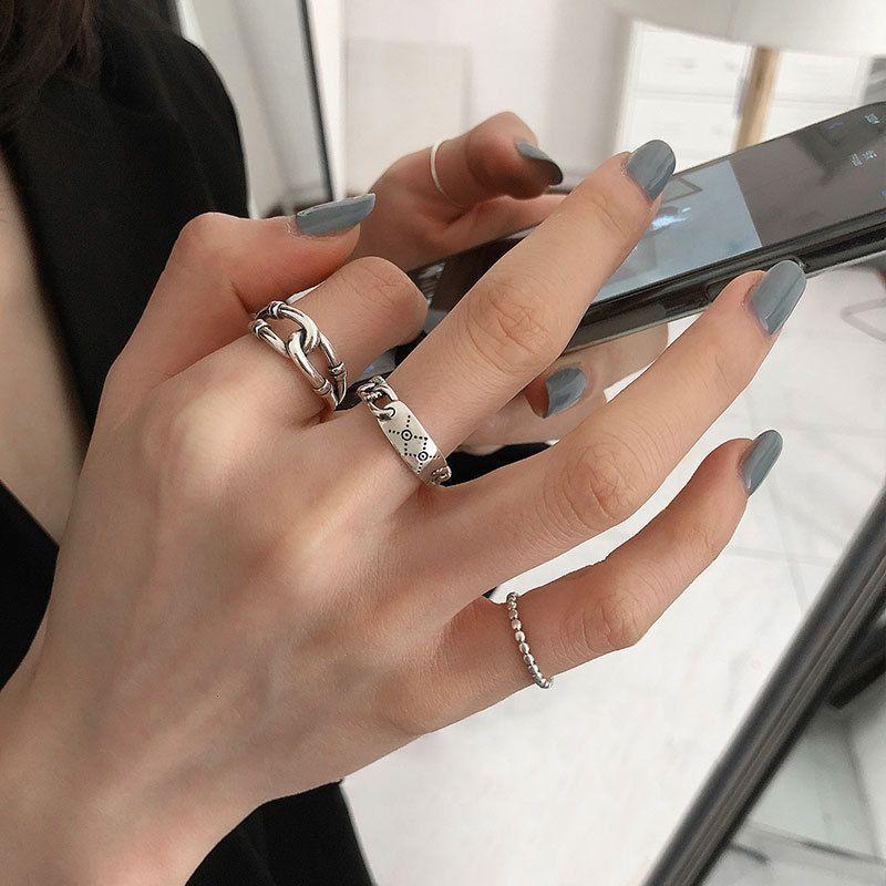 Anello gioielli coreano per donne e uomini