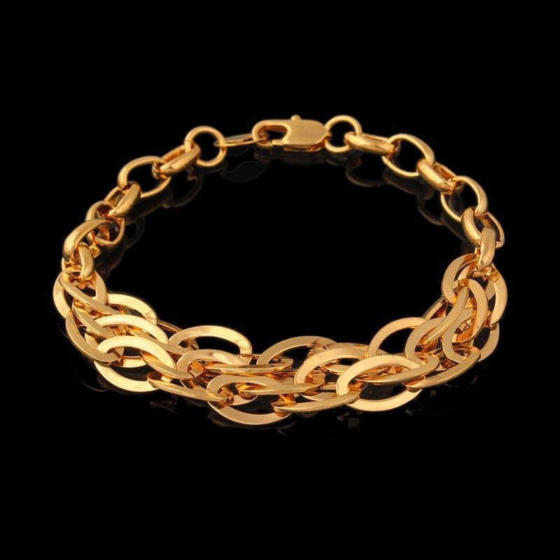 Varış altın bilezik menjewelry renk geniş 15mm bağlantı zinciri toptan bağlantısı,