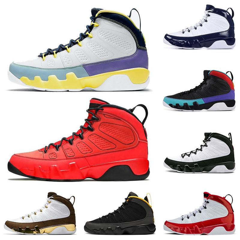 Nike Air Jordan Retro 9 Jordans 9s Jumpman Motorboat Jones Aj Change The World IX Gym Red Space Jam UNC Bred إمرأة رجل  أحذية كرة السلة   احذية رياضية رياضية   أحذية