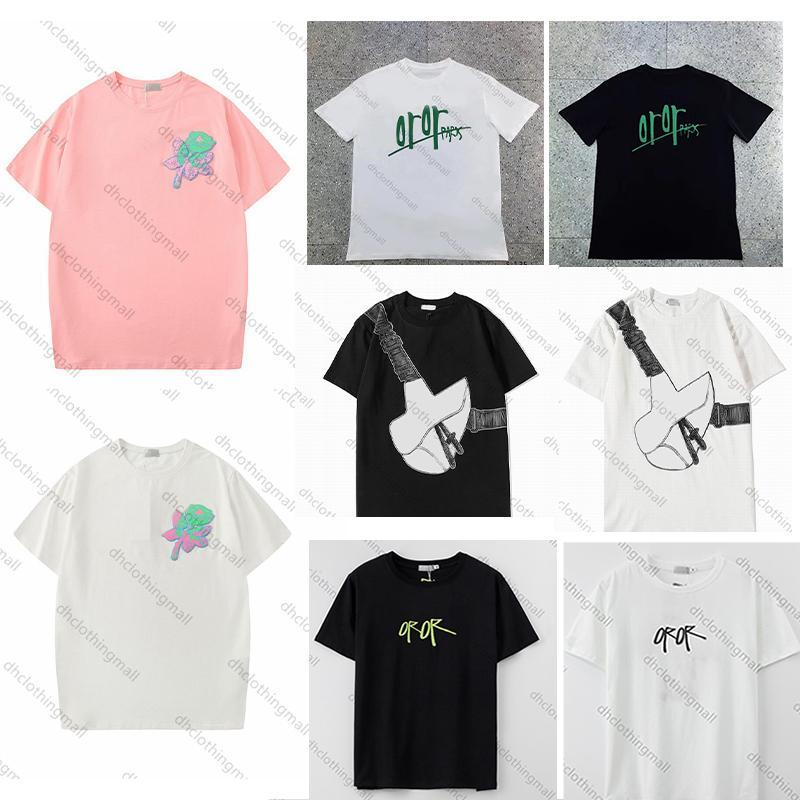 2021 Designer Summer T-shirt Mens Donne T-shirt casual con lettere stampa uomo maniche corte vestiti 20SS