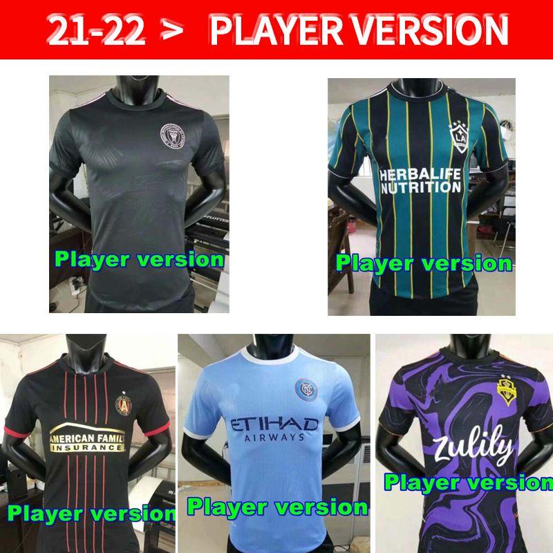 Fans Spielerversion MLS Fussball Jerseys 21 22 LAFC Inter Miami Atlanta La Galaxy York Orlando City Montreal Columbus Jersey Seattle Sounders Kansas 2021 Toronto FC