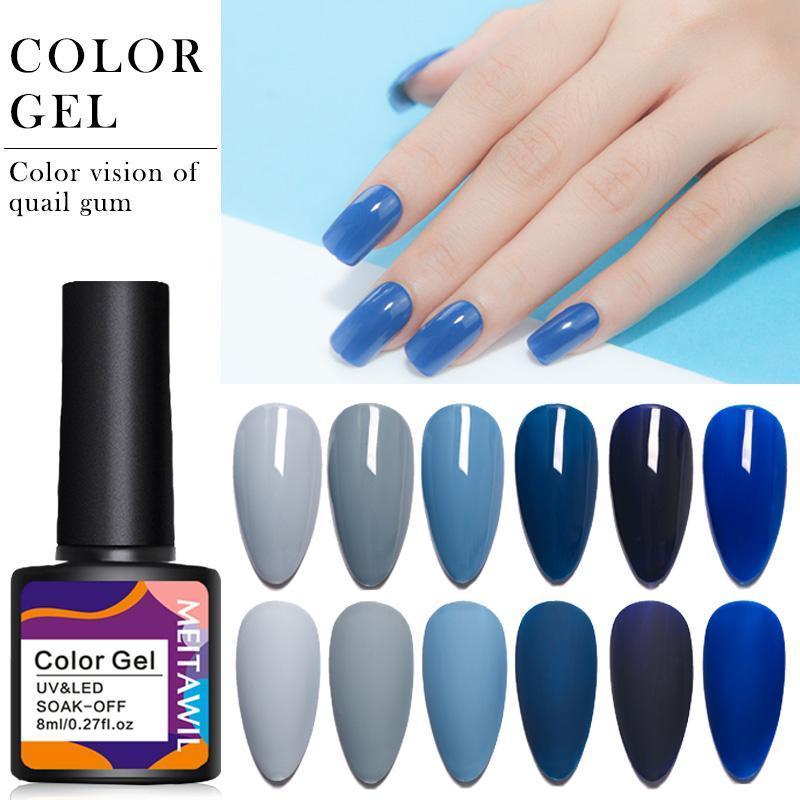 Dunkelblaue matte top mantel color uv nagel gel polnisch halb permanent einweichen geführte Art DIY Design