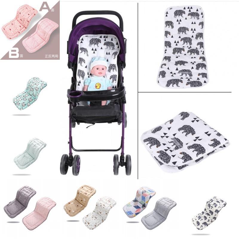 Baby Stroller Assento Algodão Confortável Soft Child Cart Mat infantil Almofada Buggy Pad Cadeira Pram Carro Recém-nascido Bolsos Acessórios 1226 Y2