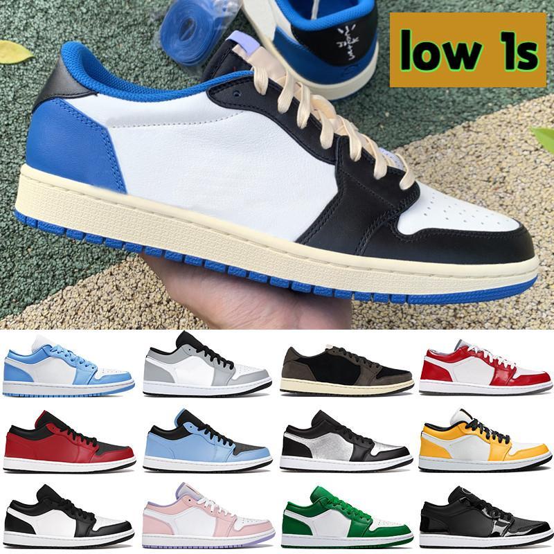 2021 Basse 1 1S Basketball Chaussures Université Bleu Cactus Noir Royal Lumière Royal Smoke Grey Bred Bred Bred Pâques Paris Femmes Sneakers