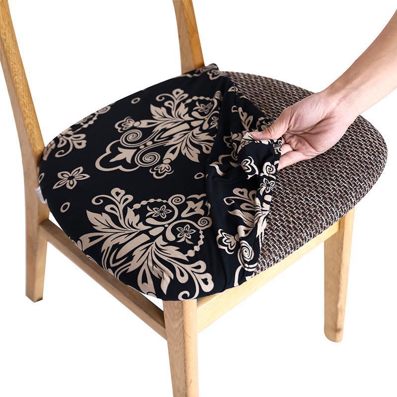 Чехлы для стула Печатная растяжка с эластичным полосой мягкого обеденного сиденья протектор корпуса кухонный ресторан