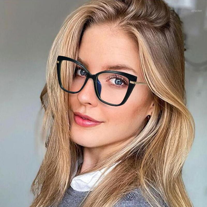 Mode Square Anti-Blue Brille Rahmen Frauen Marke Vintage Metall Transparente Brillen Weibliche Brille Oculos Feminino Sonnenbrille Frames1