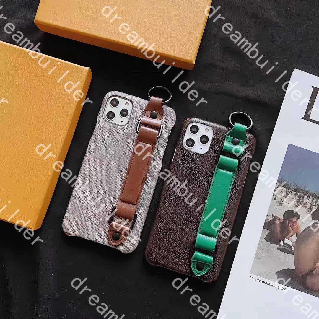 Casi del telefono della moda per iPhone 12 Pro Max 12mini Mini 11 11Pro 11Promax 7 8 Plus X XS XR XSMax PU Custodia in pelle Custodia protettiva con coperchio protettivo con staffa