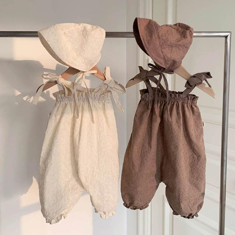 Girls Jumpsuit Summer Cotton Baby Romper Kids PP Pants One Piece Clothing Rompers Children Clothes B6326