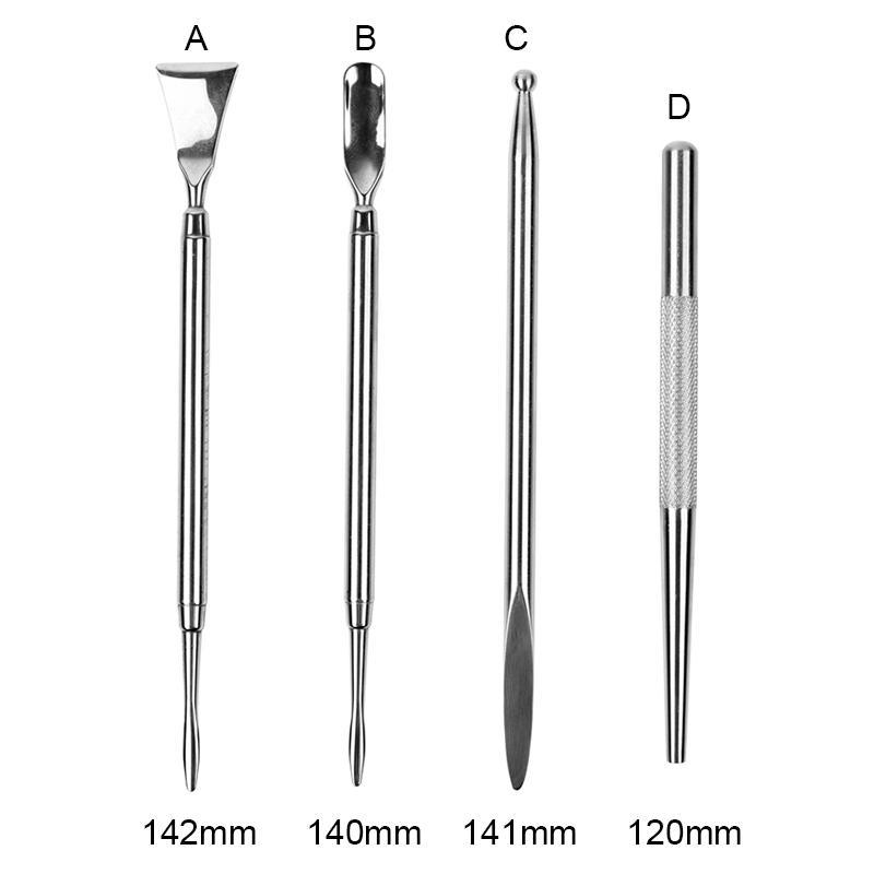 Yüksek Kaliteli Gümüş DAB Aracı Paslanmaz Çelik Araçları Kuru Herb Buharlaştırıcı Kazma Sigara Yağ Toplama Balmumu Vape Dabber 120-142mm
