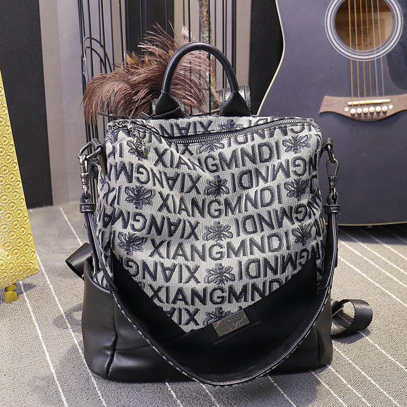 Корейский холст женщины 2020 новая мода универсальный рюкзак большой емкости мужская и женская сумка для путешествий SC