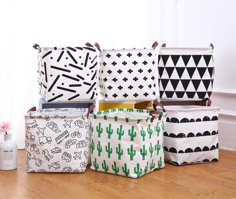 Cubo Plegable Cesta de ropa Ropa Barriles de almacenamiento para niños juguete Organizador Bolsa Caja de regalo Cajas de contenedores