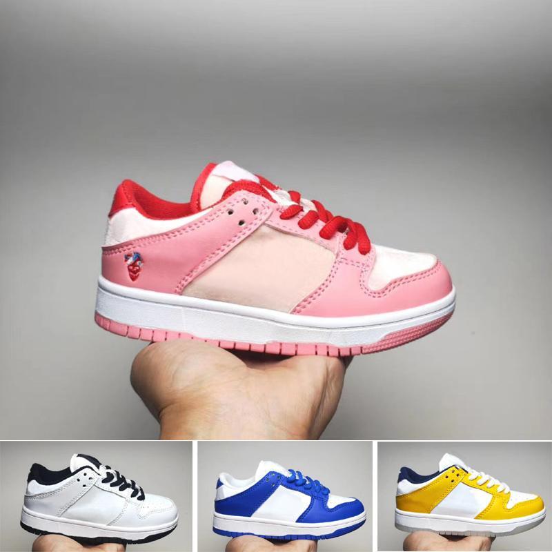 Corte baixo sb skateboarding crianças menino menina garoto juventude sapatos de esportes basquetebol skate sneaker tamanho EUR26-35