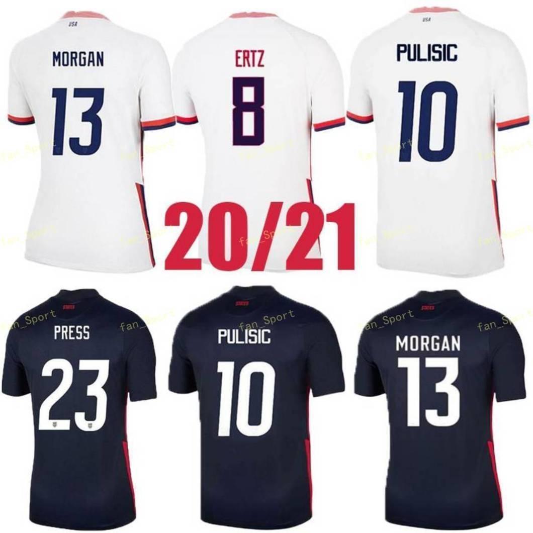 2020 Pulisic McKennie Soccer Jersey Ertz Altidore 2021 Press Wood Morgan Lloyd America Football Jerseys الولايات المتحدة الأمريكية قميص Camisetas USMNT LORTGET MEN + KIDS