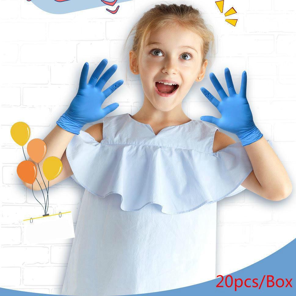 20 pz / scatola monouso bambini Giardino Guanti Guanti Nitrile Protezione di Nitrile Protezione Universale Non Designer Slip FY4033 RYCU