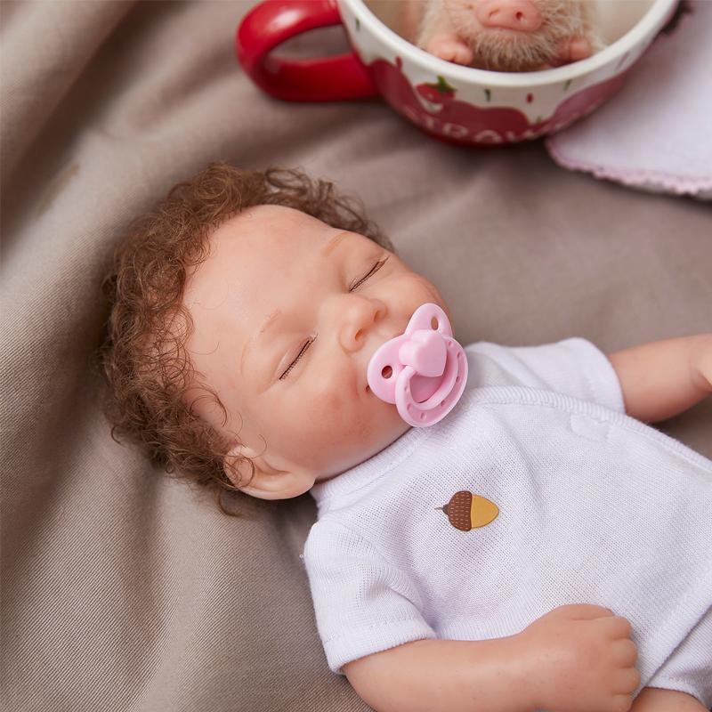 Avani كامل الجسم سيليكون البسيطة تولد الطفل دمية الوليد فتاة مناسبة للأطفال أكثر من 3 سنوات