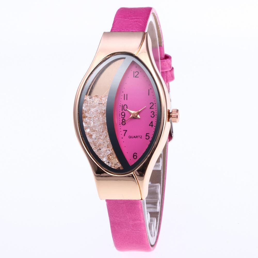 Oval Slide Bohrer Serpentine Leder Uhren Kreative Frauen Damen Mode Lässig Freizeitkleid Quarz Armbanduhr Geschenke Uhr