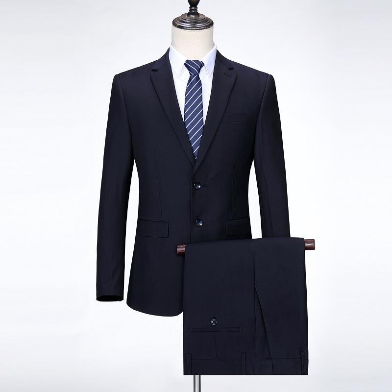 Anzüge 20 Frühling und Herbst Business Men's Freizeit High-End Slim Fit Wollbridegroom Werk Zweiteiler Anzug