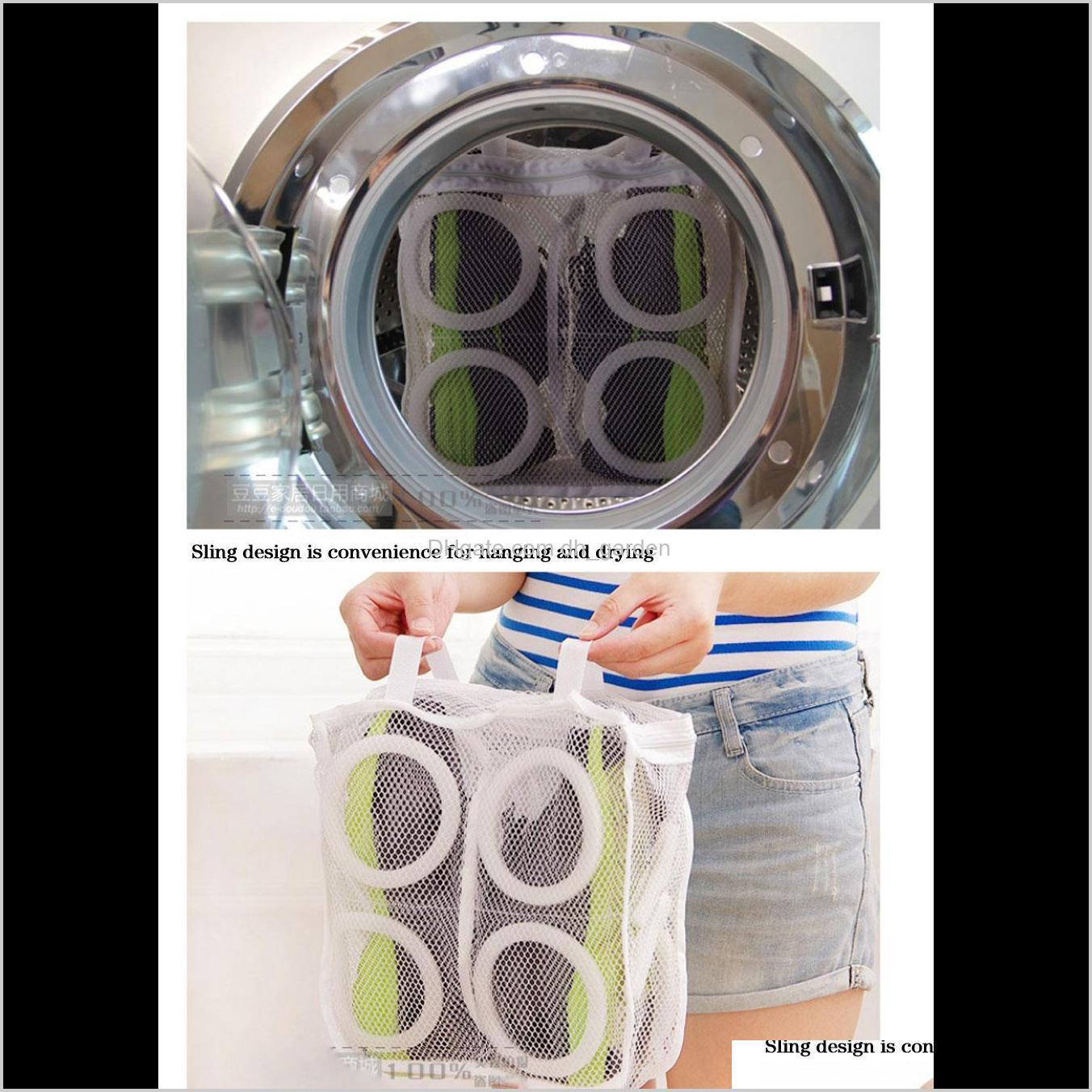 Clothing Racks Housekeeping Organization Home & Garden Drop Delivery 2021 High Quality Fashion Storage Mesh Laundry Shoes Dry Shoe Organizer