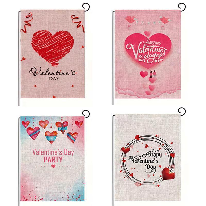 Estilos Día de San Valentín Decoración Decoración de jardín Patrones en forma de corazón A35