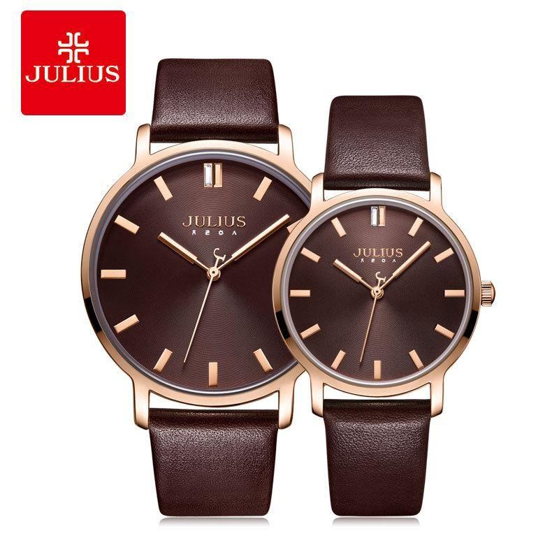 Julius Lovers Watch Simple Quartz Waterproof Japanese Movement Men's And Women's Ja-1200 Wristwatches