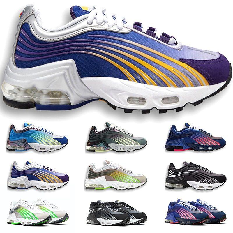 TN Artı 2 II Tuned Koşu Ayakkabıları Erkek Eğitmenler Chaussures Üçlü Beyaz Siyah Hiper Mavi Yeşil OG Neon Bayan Sneakers Spor Boyutu 5.5-10