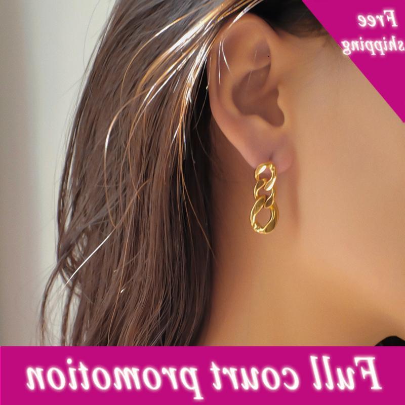 Doigt punk pour femmes 2020 nouveau style design simple boucles d'oreilles chaîne bijoux géométriques métalliques