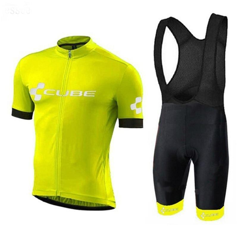 Гоночные наборы 2021 Куб Летний Велоспорт Джерси Дышащий MTB Велосипеда Одежда Mounte Mount Bike Носить Одежду