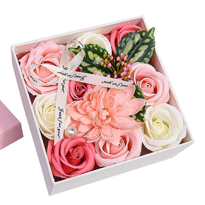 Yenilikçi Sabun Çiçek Kutusu İşleme Özel Sevgililer Günü Annesinin Gül Hediye Paketi