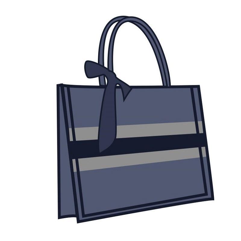النساء المصممين المصممين أكياس 2021 الأزرق الأسود الأحمر رمادي حمل حقيبة التطريز طباعة قماش الكلاسيكية مقبض كمبيوتر محمول الأزياء التسوق كبير حقائب الشاطئ 3741 سنتيمتر