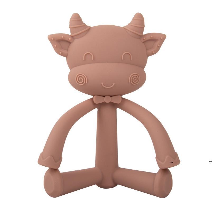 Baby Teether الحلمة اللهايات السيليكون بيبي سيليكون سلامة السلامة لدغة الغذاء تقويم الأسنان الحلمات FWC7327