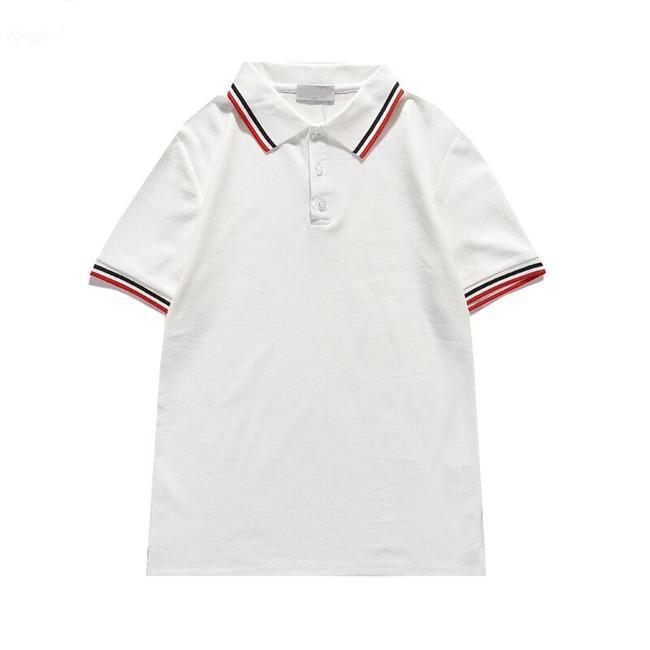 2021 Designers Camisetas Verão Europa Paris Polos Americano Estrelas Moda Mens T-shirts Estrela Cetim 100% Algodão Polo Casual T-shirt das Mulheres Mans Tees Preto Branco