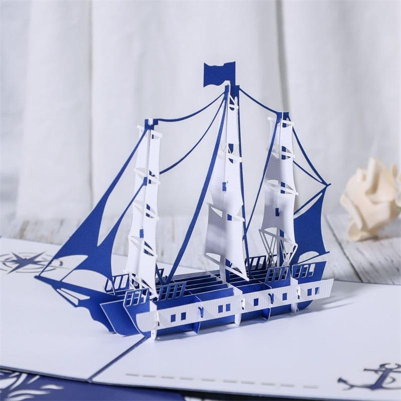 3D Anniversary Card / Pop Up Carte Rouge Maple Handmade Cadeaux Couple Pensant à votre Carte Partie de mariage Love Saint Valentin Jour Carte de voeux 240 S2