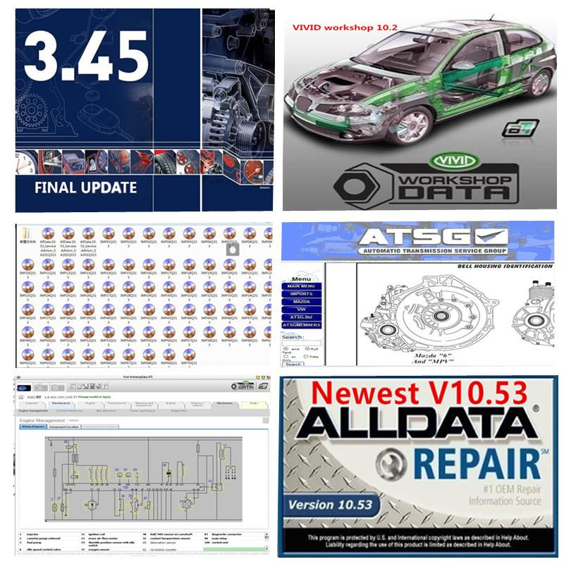 Auto Repair Soft-Ware Todos os dados AllData V10.53 e m..ll 2015 no disco rígido USB3.0 HDD 1TB