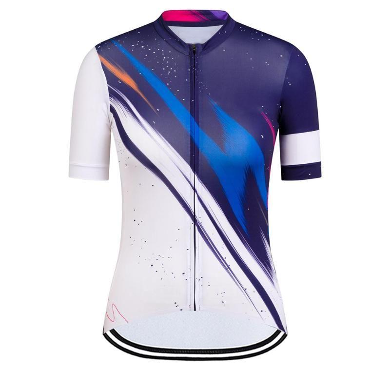Donne in bicicletta Jersey Manica corta Ciclismo Bicicleta Sportswear Summer MTB Bike Tops RCC Maillot Camicia da corsa Giacche da corsa