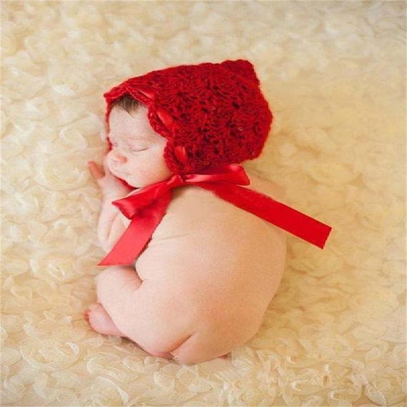 Nouveau-né Photographie Prise de photographie Props Baby Casquettes Chapeaux Fille / Garçon Vêtements Nouveau-né Crochet Tenue Livraison rapide 67 Y2