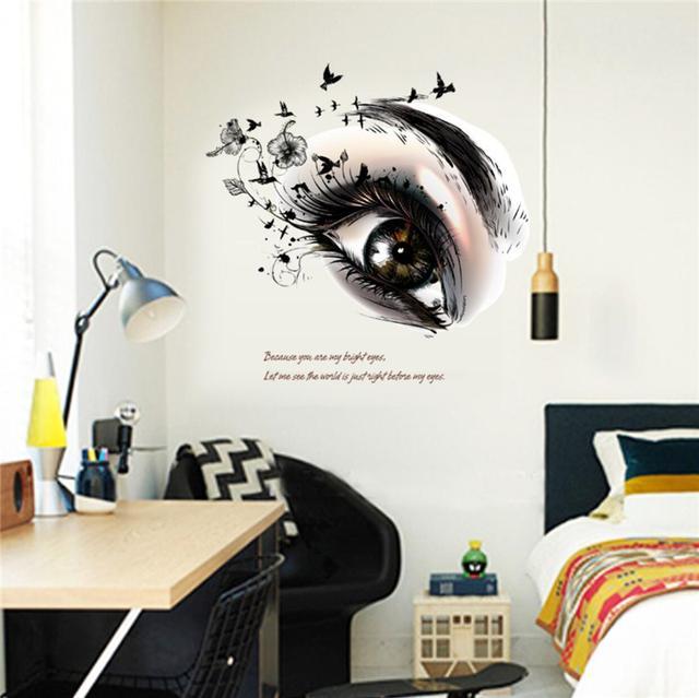 Styles mixtes Sexy Eye Wall Sticker Ville Bedroom Décoration de salon pour les décalcomanies d'art mural
