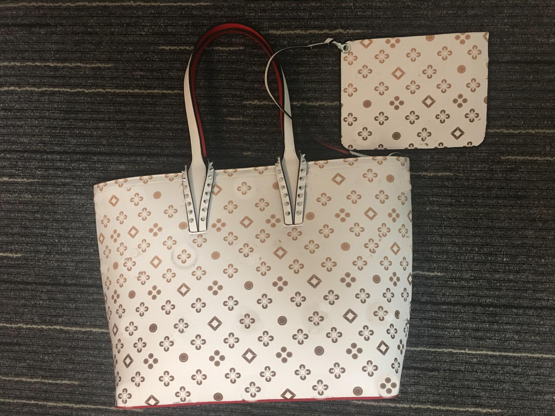 Impresión mixta Mujeres grandes bolsas de compras para las señoras Moda compuesta de mano de calidad superior de la bolsa de cuero genuino de la bolsa
