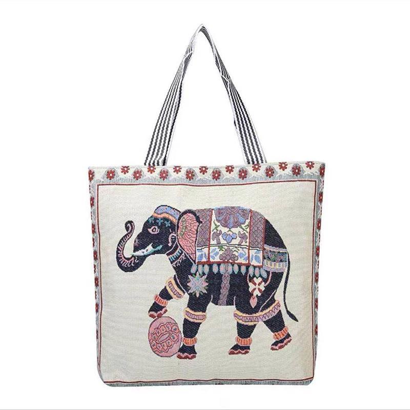 Korean version ins student canvas bag women's literature and art versatile single shoulder bags small fresh linen short distance travel bagss P033