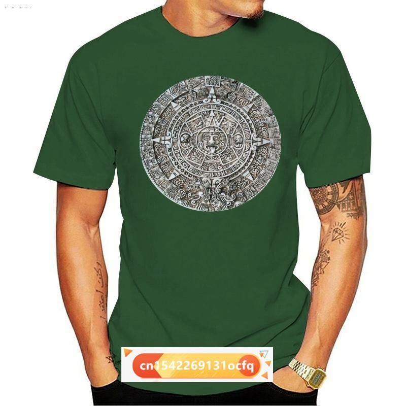 Men's T-Shirts Mayan Calendar 2012 Ancient Prophecy Aliens Artifact T Shirt Fashion Design