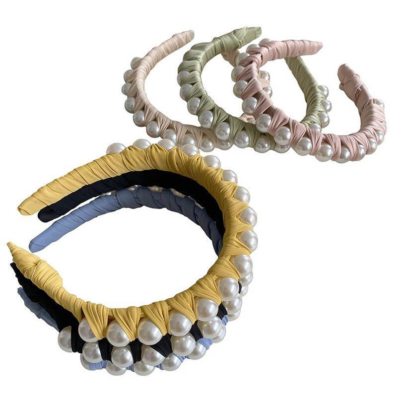 Girls Hair Accessories Sticks Head Bands Headbands Childrens Pearl Fashion Boutique Accessory B5429